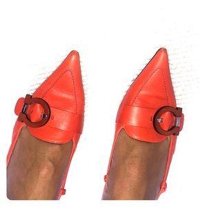 Orange Ferragamo Heels 👠